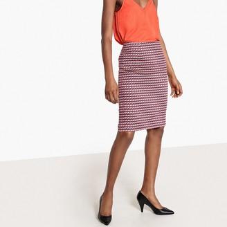 La Redoute Collections Geometric Print Pencil Skirt
