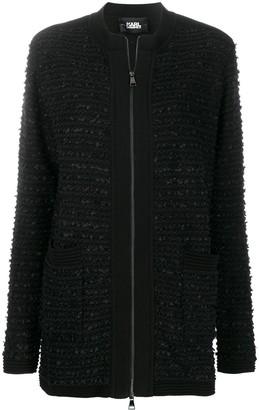 Karl Lagerfeld Paris tweed boucle cardigan