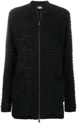 Karl Lagerfeld Paris Tweed Boucle Cardigan