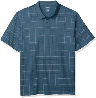 Van Heusen Men's Flex Short Sleeve Stretch Windowpane Polo Shirt