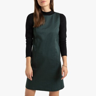 La Redoute Collections Sleeveless Short Tunic Shift Dress in Cotton