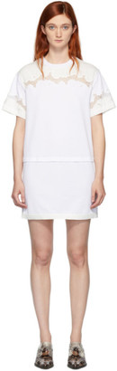 3.1 Phillip Lim White Lace Insert T-Shirt Dress