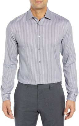 John Varvatos Regular Fit Stretch Stripe Dress Shirt