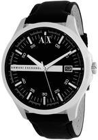 Giorgio Armani Exchange AX2101 Men's Classic Black Leather Watch