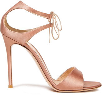 Gianvito Rossi Leather-trimmed Satin Sandals