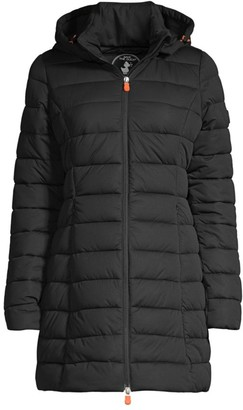 Save The Duck Seal Stretch Hooded Coat