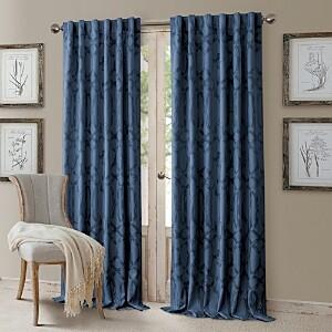 Elrene Home Fashions Darla Geometric Blackout Curtain Panel, 52 x 95