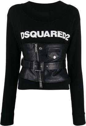 DSQUARED2 corseted logo sweatshirt