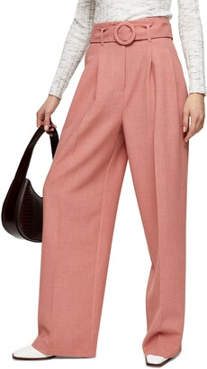 Topshop Belted Wide Leg Trousers