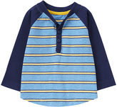 Gymboree Blue Stripe Raglan Henley - Infant