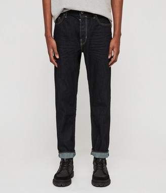 AllSaints Ridge Tapered Jeans, Dark Indigo Blue