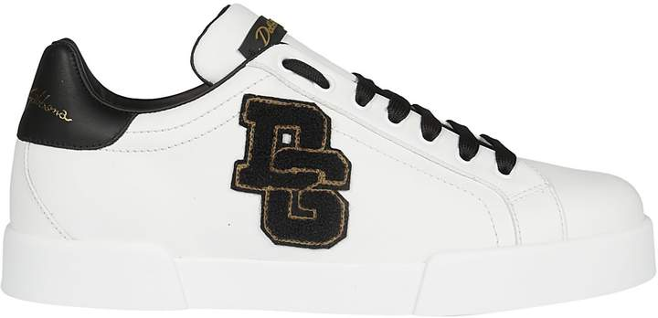 Dolce & Gabbana Patched Sneakers