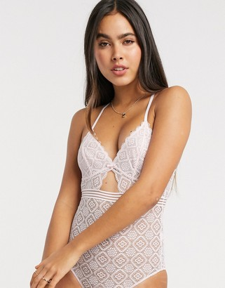 Dorina Sienna lace cut-out body in pink