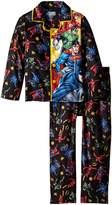 "Justice League Big Boys' ""Modern Heroics"" 2-Piece Pajamas"