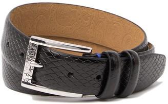 Robert Graham Argentina Snake Embossed Leather Dress Belt