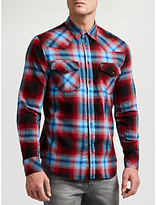 Diesel S-east Plaid Western Shirt, Chilli Pepper