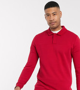 Asos Design DESIGN Tall rugby sweatshirt in red