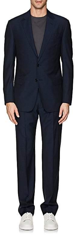 Giorgio Armani Men's Soft Micro-Checked Wool Two-Button Suit