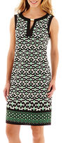 London Times London Style Collection Sleeveless Print Shift Dress