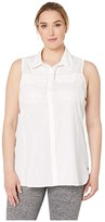 Columbia Plus Size Silver Ridgetm Lite Sleeveless (White) Women's Sleeveless