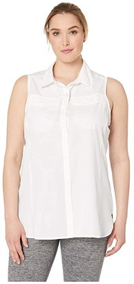 Columbia Plus Size Silver Ridgetm Lite Sleeveless (White) Women's Sleeveless