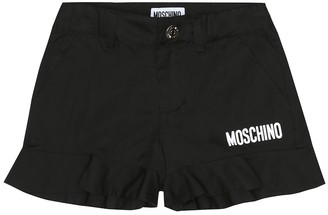 MOSCHINO BAMBINO Logo stretch-cotton shorts