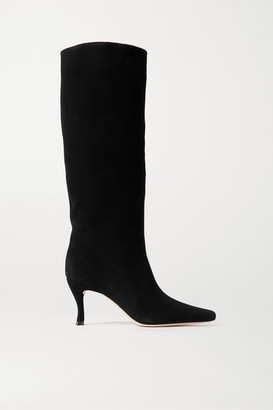 BY FAR Stevie Suede Knee Boots - Black