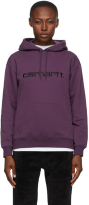 Carhartt Work In Progress Purple Logo Hoodie