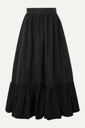 Valentino Tiered Cotton-blend Poplin Midi Skirt - Black