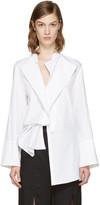 Ann Demeulemeester White Rigatoni Shirt