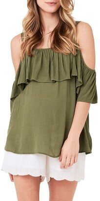 Ripe Crinkle Off Shoulder Frill Top