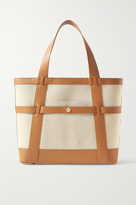 Paravel Atlantic Leather-trimmed Cotton-canvas Tote - Tan