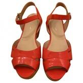 Salvatore Ferragamo Orange Patent leather Sandals