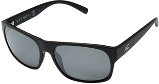 Kaenon Clemente (Black Label Grey 12-Polarized Black Mirror) Athletic Performance Sport Sunglasses