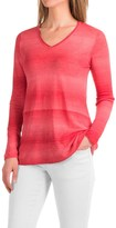 Forte Cashmere Space-Dyed Knit Shirt - Linen, Long Sleeve (For Women)