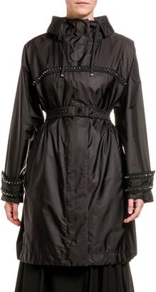 Moncler Prasin Studded Oversize Raincoat
