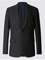 M&s Collection Luxury Big & Tall Pure Wool Tailored Fit Jacket