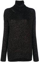 Etro metallic (Grey) effect jumper