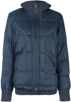 Diesel ribbed trim puffer jacket - women - Cotton/Feather Down/Nylon - S