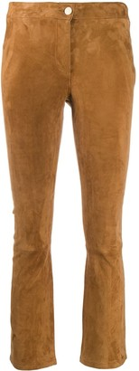 Arma Cropped Suede Trousers