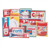 Guidecraft 12 Piece Wooden Grocery Products Set