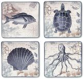 Certified International Coastal Postcards 4-pc. Square Dinner Plate Set
