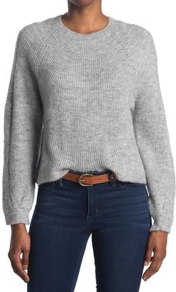Topshop Chevron Crewneck Cropped Sweater