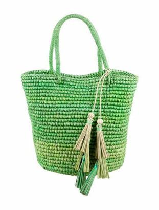 Sensi Woven Straw Bucket Bag w/ Tags Green