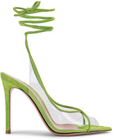 Gianvito Rossi Plexi Strappy Heels in Transparent & Midori | FWRD