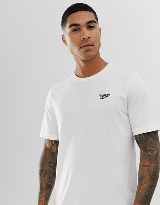 Reebok t-shirt with small vector logo in white-Black