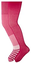 Jefferies Socks Wide Stripe/Solid Tights Pack Pink 1563 Hot Pink 1500) Hose