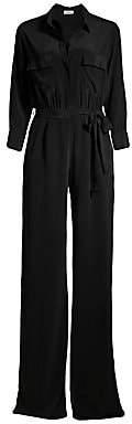 L'Agence Women's Teddy Silk Slit Jumpsuit