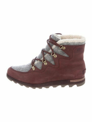 Sorel Sneakchic Suede Lace-Up Boots