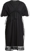 Simone Rocha Puff-Sleeve Tulle & Cotton Babydoll Dress